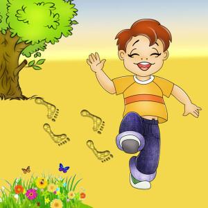 мальчик шагает