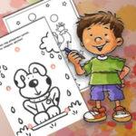 Раскраски с заданиями для детей